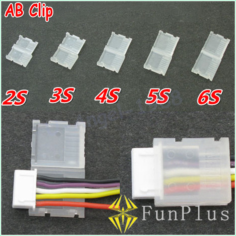 20pcs/lot 2S 3S 4S 5S 6S JST-XH Balanced Head Protection Protect Balance Plug Savers 2-6s AB Clip Dropship for RC Battery Cable ...