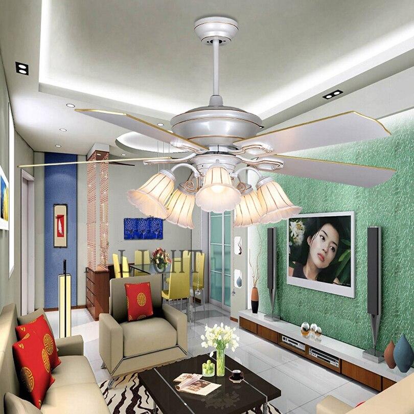 Creative plafond met licht kits voor bar woonkamer wit ceiling fan ...
