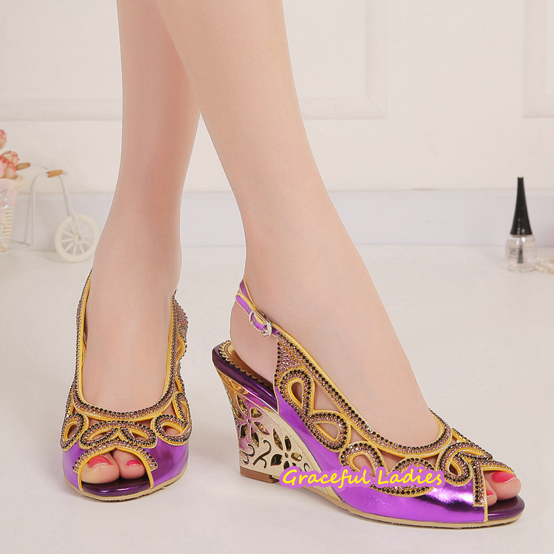 534d6277fe8f 3 Inch Wedge Heels Ladies Sandal Shoes Woman Summer Style Wedges Sandals  Zapatos Mujer Wedding Party Wedge Shoes Dancing Sandal-in Women s Sandals  from ...