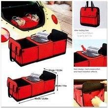Авто сзади стойки коробка для хранения Организатор напиток термоизоляционный для продуктов корзина для льда автомобилей Укладка Уборка контейнер подкладке аксессуары предметы