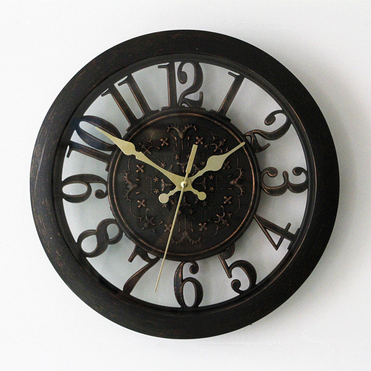 Living wall compare prices 3d wall clock saat clock - Reloj pared vintage ...