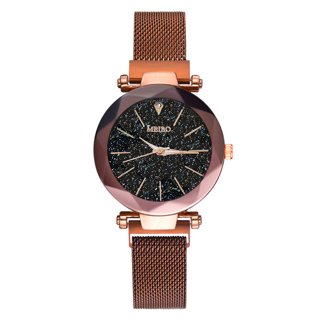 Women Bracelet Watches 2019 New MEIBO Quartz Stainless Steel Band Magnet Buckle