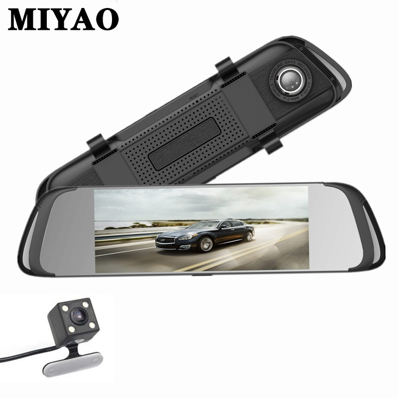 Car DVR Camera 7 Inch Touch Screen Dual Lens IPS Rearview Mirror Video Recorder Dash Cam Camera FHD 1080P Car Dvrs Dash Camera