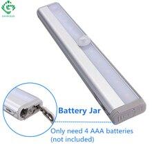 LED Night Light IR Infrared Motion Sensor 10 LED Under Cabinet Lights