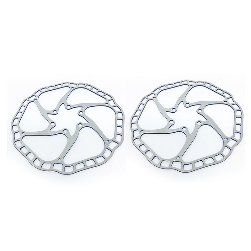 73g/pc Bicycle Hydraulic disc brake Rotors MTB bike brake disc Rotor Stainless Steel Rotors 160mm 6inch 44mm with Free Bolt bike road bicycle alloy mechanical disc brake set rear include 160mm centerline rotor 2 brake calipers 2 g3 disc rotors