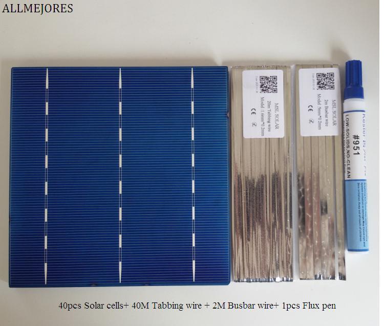 Categoria para Faça Carregador de Painel Solar + Suficiente Fio de Tabbing + Caneta Allmejores Policristalino Célula Solar 4.1 w – Pcs Uma Você Mesmo 160 Fluxo 40 Pçs 6×6