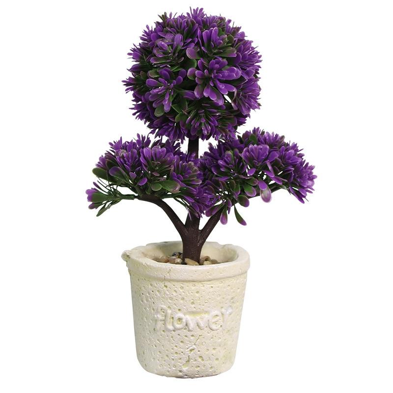 Fresh Pastoral Artificial Plants Creative Podocarpus Pot Fake Plants Artificial Decorations Crafts Home Festive Party Supplies