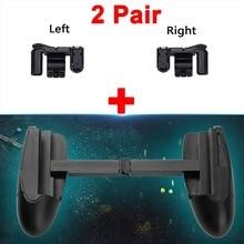 2 par Jogo Gatilho Botão de Fogo Objetivo Chave & Controlador Atirador Para O Jogo Móvel Telefone Inteligente L1R1 PUBG/Facas out/RulesV3.0Left + Direita