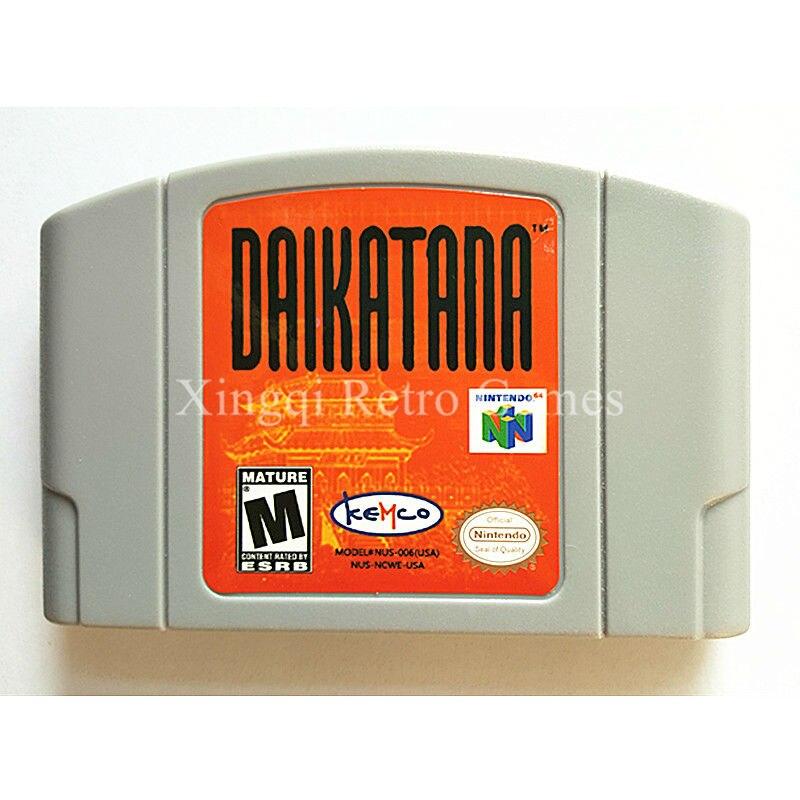 Nintendo N64 Game Daikatana Video Game Cartridge Console Card English Language US Version