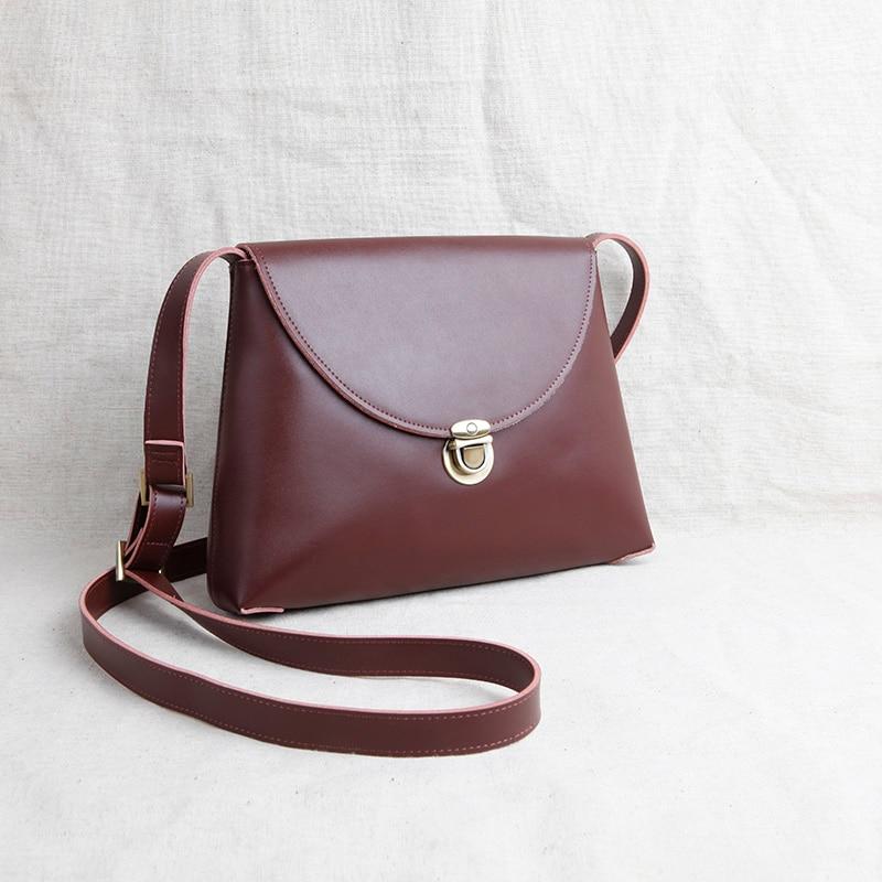 100% Special Offer Flap Guarantee Original Handmade Genuine Leather Cow Minimalist Retro Small Shoulder Bag Messenger 2017 New special make 100