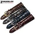 Моды Натуральная кожа ремешок для часов ремни черный коричневый темно-синий красный 18 мм 20 мм 22 мм мужские часы браслет