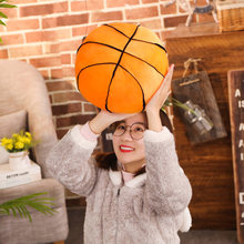 Hot 2019 New Basketball Pillow Fluffy Plush Stuffed Ball Throw Soft Durable Sports Toy Birthday Gift for Kids Room Decoration(China)