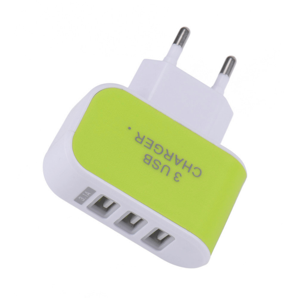 3 USB Wall Charger Adapter EU Standard Plug Charging Adapter Dual Travel Charger For iPhone 5 5s 6 6s Huawei Xiaomi Samsung