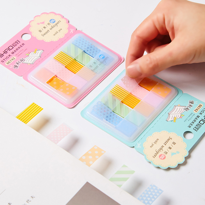 24 pcs/Lot Index One point stick marker PVC memo pad Post diary stickers agenda Stationery Office School supplies CM390
