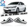2PCs Set LED Car DRL Daytime Running Lights For Hyundai Accent Solaris 2014 2015 With Fog