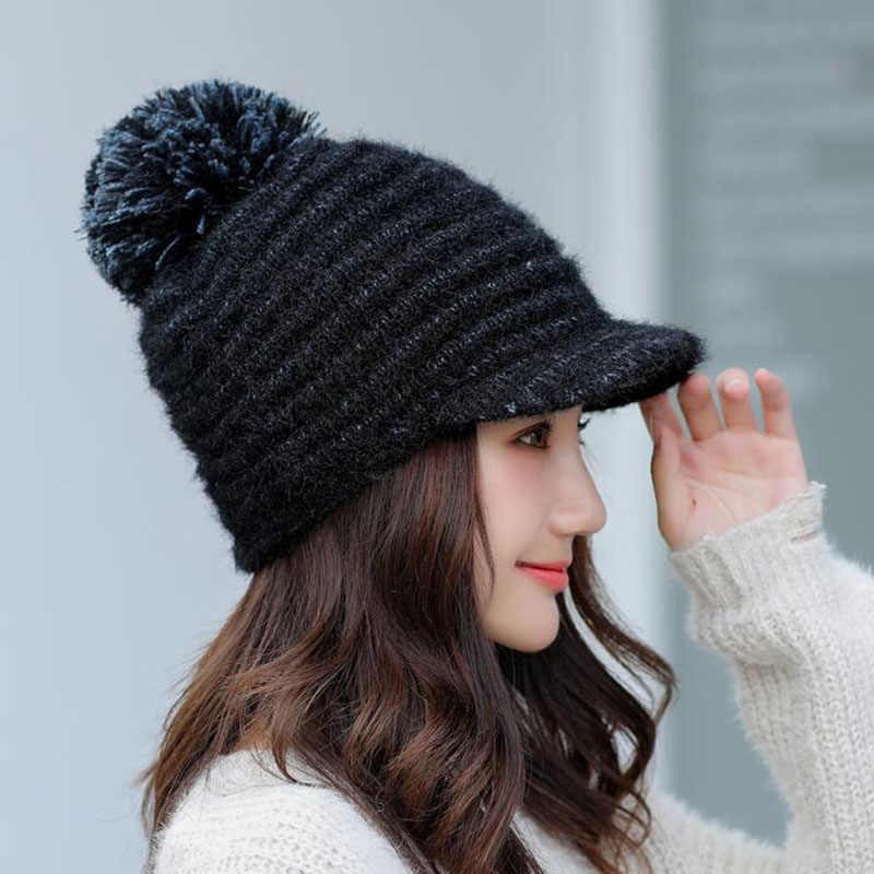 778952fb23f SUOGRY Women Winter Hat For Girls Caps New Fashion 2018 High Quality Knitted  Warm Beanies Skullies