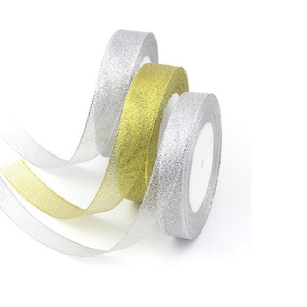 Glitter Diamante Ribbon Wedding Day Congratulations  White 40mm Width