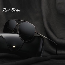 width-146 BRAND DESIGN Classic Polarized Sunglasses men goggle pilot sunglasses male spectacles Mirror Gafas De Sol