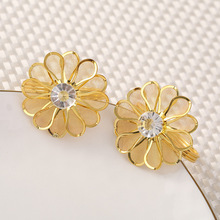 12PCS Western-style flower imitation diamond napkin ring Hotel set wedding buckle