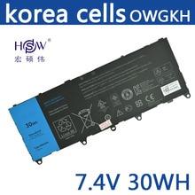 original notebook battery 7.4V 30WH For DELL 0WGKH OWGKH laptop battery rechargeable battery 11 1v 97wh new original laptop battery for dell 0tn1k5dp fv993 pg6rc r7pnd m6600 m4600 tn1k5