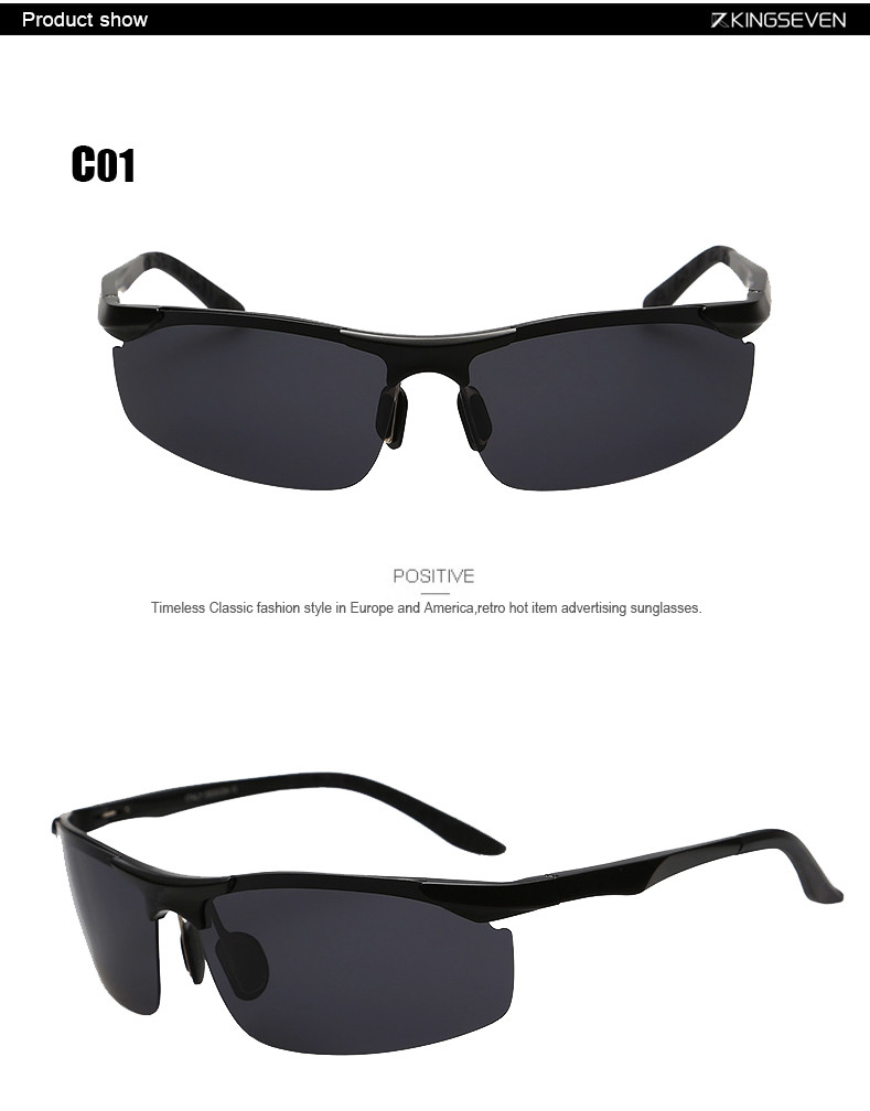 High Quality Aluminum Alloy Frame Polarized Sunglasses Men's Driver Sunglass Mirror Outdoor Sports Glasses with 6 Accessories 4