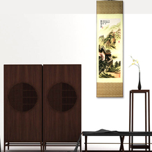 Silk Painting scroll Chinese national handicraft The Great Wall Hanging Feng Shui wall picture Home Decor framed painting