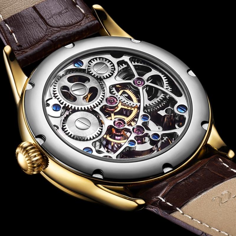 100% Tourbillon GUANQIN Men watches top brand luxury Tourbillon clock men Sapphire Skeleton mechanical watch Relogio Masculino 4