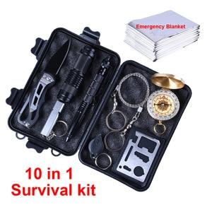 10 in 1 Survival kit Outdoor C