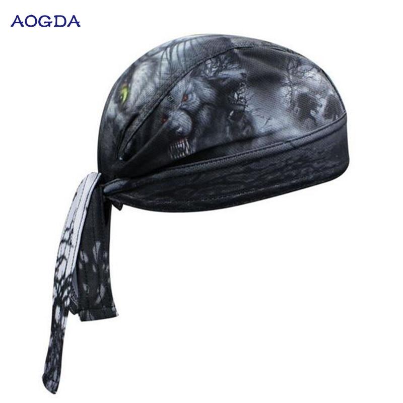 AOGDA Biker cycling bandana pirates scarf headsweats dress hats cycling  head wear cap CC3538