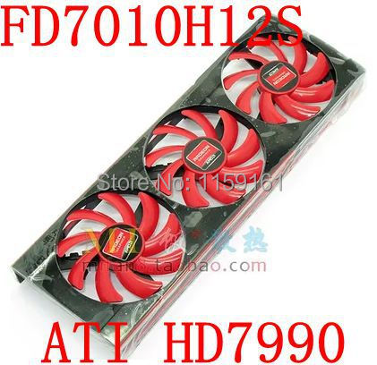 Free Shipping  NTK FD7010H12S  for ATI  HD7990 graphics card fan vg 86m06 006 gpu for acer aspire 6530g notebook pc graphics card ati hd3650 video card