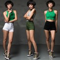 Мода 2016 Лето Керлинг Высокие Женщины Шорты Талии Шорты Плюс Размер Женщин Конфеты Цветные Короткие Джинсы Повседневная Denim Шорты S ~ XL