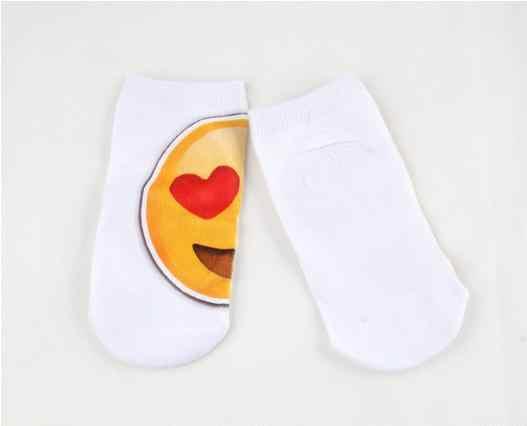 2018 забавные носки для лица с рисунком выражения принт короткие носки с calcetiness Mujer до щиколотки для маленьких детские носки короткие носки
