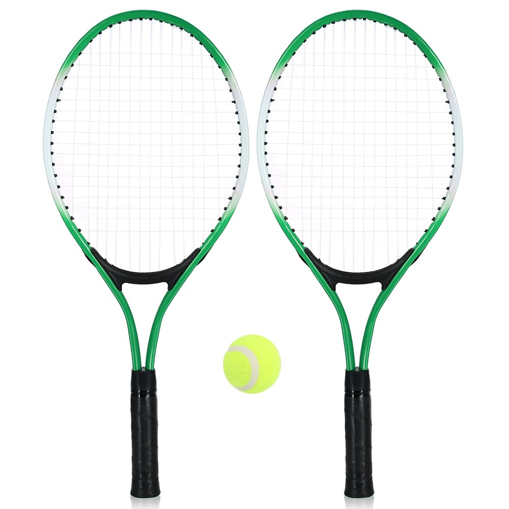 2Pcs Kids Tennis Racket Training Racket With 1 Tennis Ball Cover Bag Chilodern Tennis Training Set Youth Children Tennis Rackets