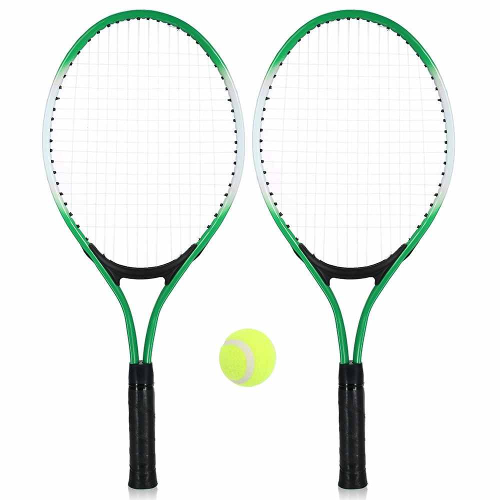 2Pcs Kids Tennis Racket Training Racket with 1 Tennis Ball Cover Bag Chilodern Tennis Training Set Youth Children Tennis Rackets