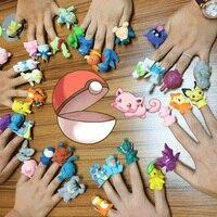 20pcs Bag Japanese Anime Action Figures Mini Figurines Cute Pikachu Charmander Eevee PVC Figure Pop Pokeball