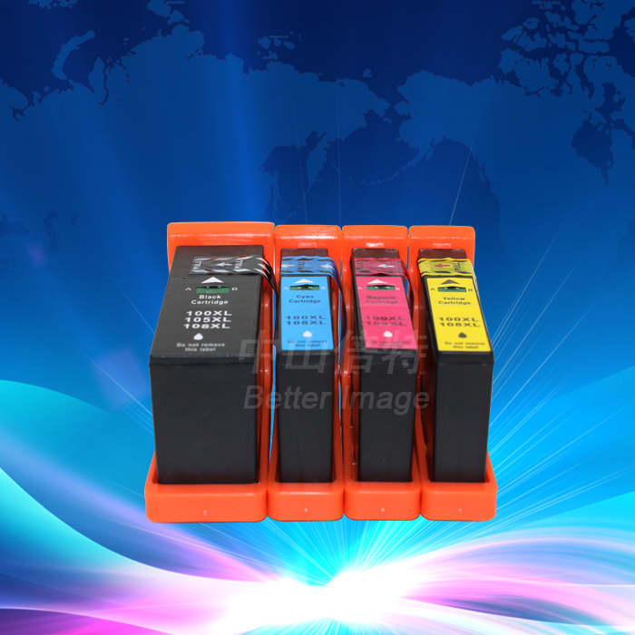 12 Pack LM100XL LM105XL LM108XL 100XL 105XL 108XL совместимый патрон чернил с чипом для S301/302/305/S405/409/S505/S605/S308