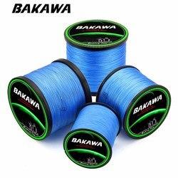 BAKAWA 1000m PE Braided Fishing Line  4 Strands Fishing Lines Multi-filament Fish Line Rope Cord  10~85LB