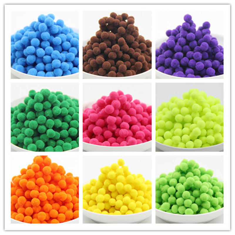 8mm 10mm 15mm 20mm 25mm 30mm Soft Pompom Soft Fluffy Pom Pom Balls DIY Handmade Sewing Craft Supplies Decorating Kids Toys