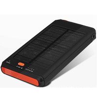 11200 mAh solar battery for mobile phone laptop computer digital charger Multiple plug 18v power Bank Outdoor portable LED light