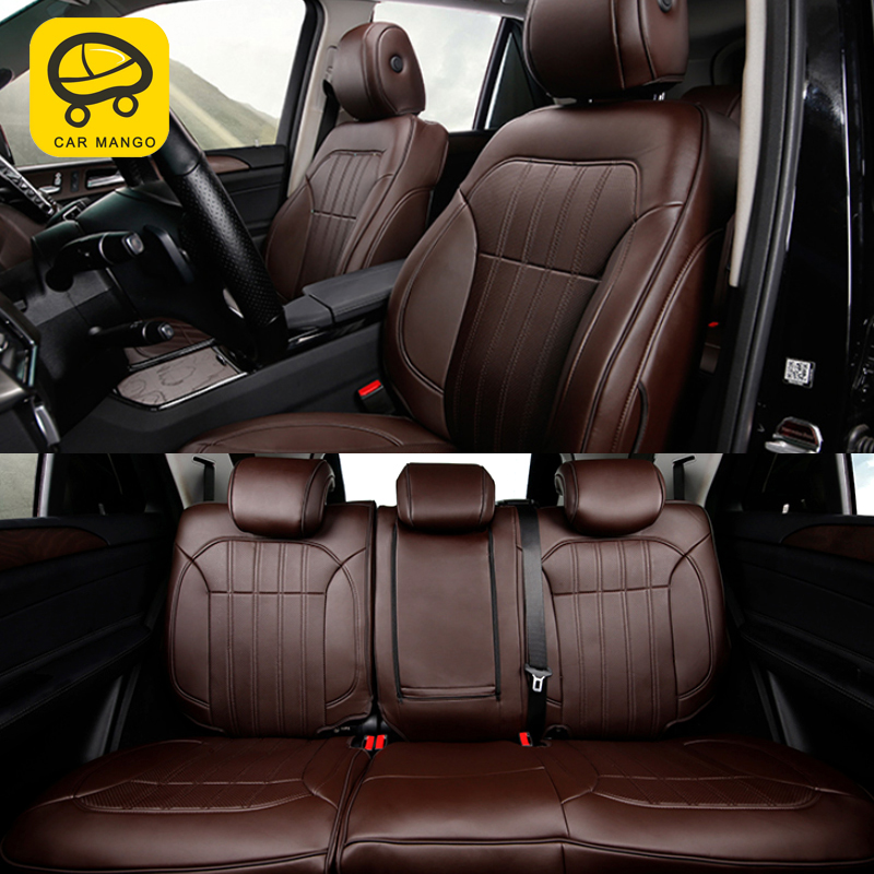 CarManGo For Mercedes Benz GLE Car Seat Cover Four Seasons Flax Cushion Breathable Protector Mat Pad Accessories