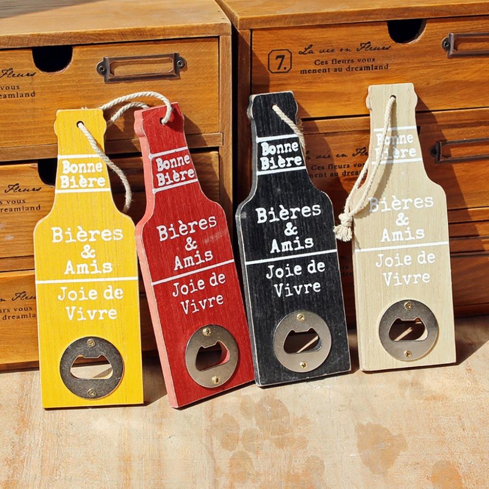 1 Stks Bier Flesopener Metaal Hout Duurzaam Flessen Openers Kan Worden Opknoping Thuis Art Decoratie Keuken Accessoires 006 Ziekten Voorkomen En Genezen