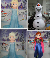 High quality Olaf mascot costume Elsa queen mascot costume and princess Anna mascot Adult size free shipping