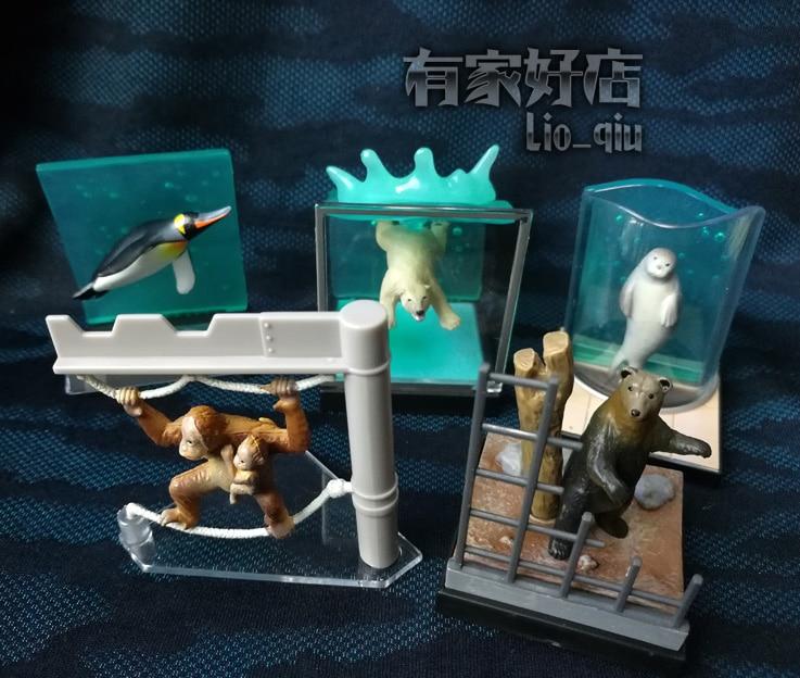 5pcs/set  Simulation  model toy  scene DecorationAsahiyama Zoo  three-dimensional scene pvc  figure 12pcs set simulation model toy scene decorationsteamboy ornaments pvc figure