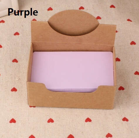 Hot selling 90*54mm.new arrival fashion cute retro Purple diy fun kraft paper tags.Blank paper Label.hang tag.bookmark.retail gr