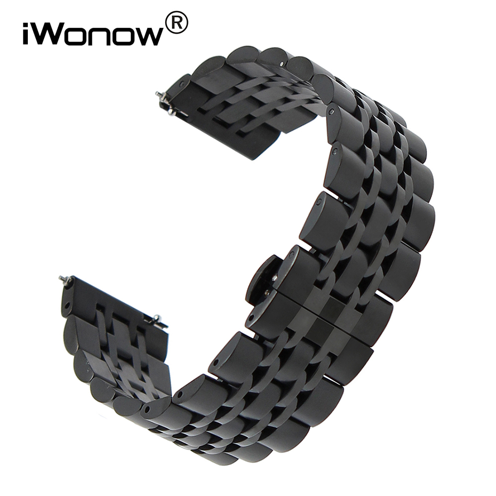 Quick Release Stainless Steel Watchband 22mm for Moto 360 2 46mm Pebble Time Ticwatch 1 Huawei Watch 2 Classic Wrist Band Strap