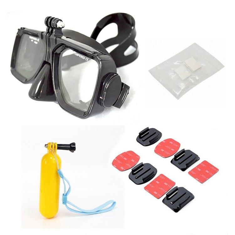 Gopro Hero için 7 6 5 4 Dalış Maskesi + Bobber Floaty + Anti Sis - Kamera ve Fotoğraf - Fotoğraf 1
