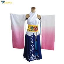 Final Fantasy X 10 Yuna Cosplay Costume Custom Made цена