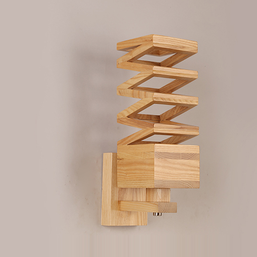 Nordic Chinese Wooden LED Wall Lamp Wall Light Indoor Lighting Wall Sconces For Bar Cafe Study Corridor Bedroom