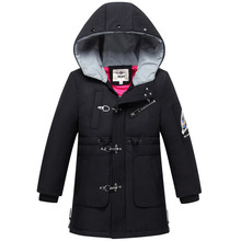 цена на 2019 Girls Winter Coat Parkas Hooded Windproof Boys Jackets Fashion Long Kids Down Outerwear Warm Children Windbreaker