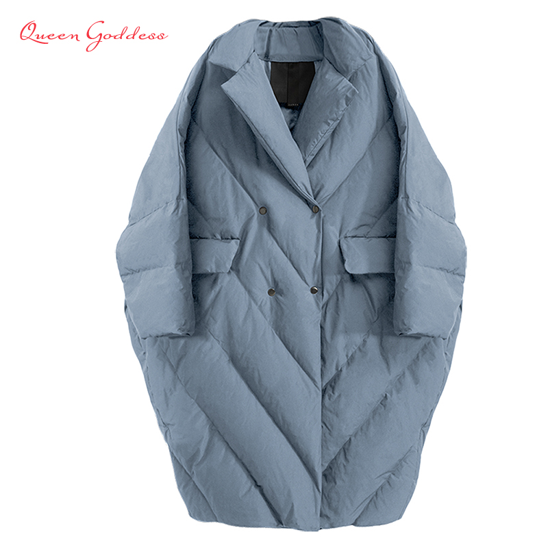 Winter New Fashion Women Long Down Jacket Warm Coat Oversize Outwear Plus Size Female Thicken Parkas